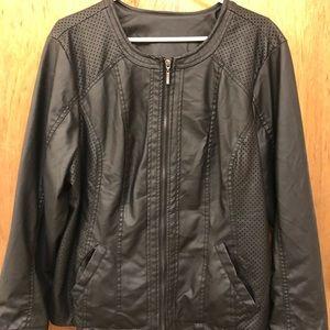 Jackets & Blazers - Plus size faux leather moto jacket